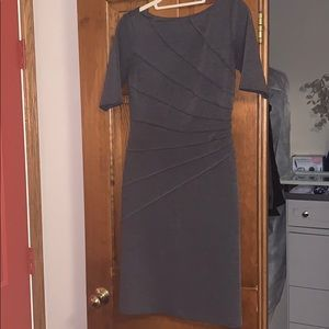 Maggy London Asymmetrical Fitted Dress size 4
